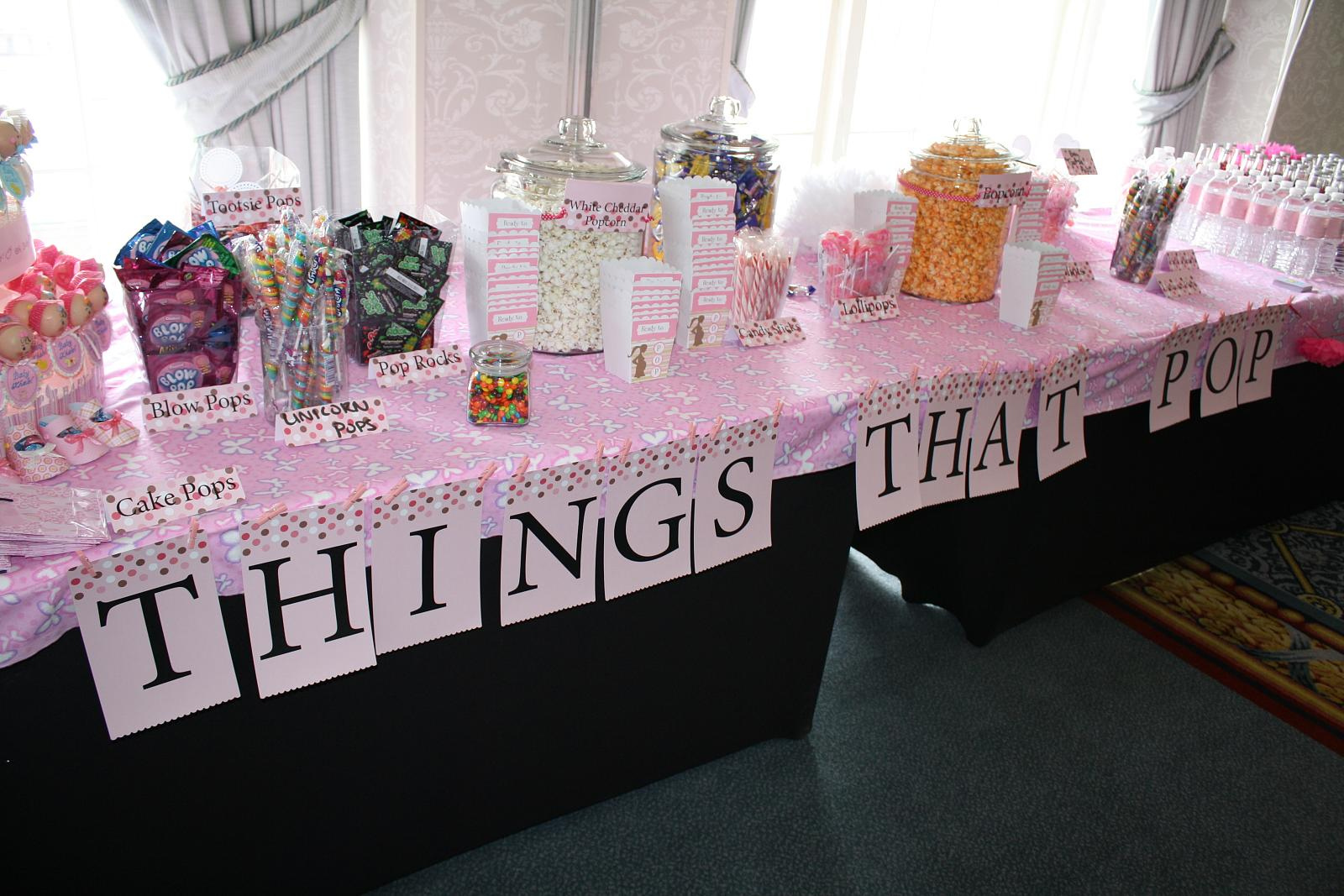 baby shower candy table decoration ideas