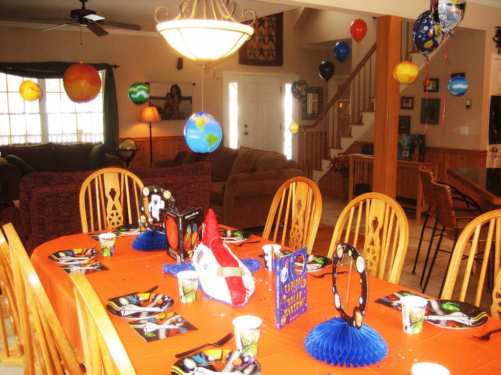 Birthday Party Table Decoration U2013 Space Theme